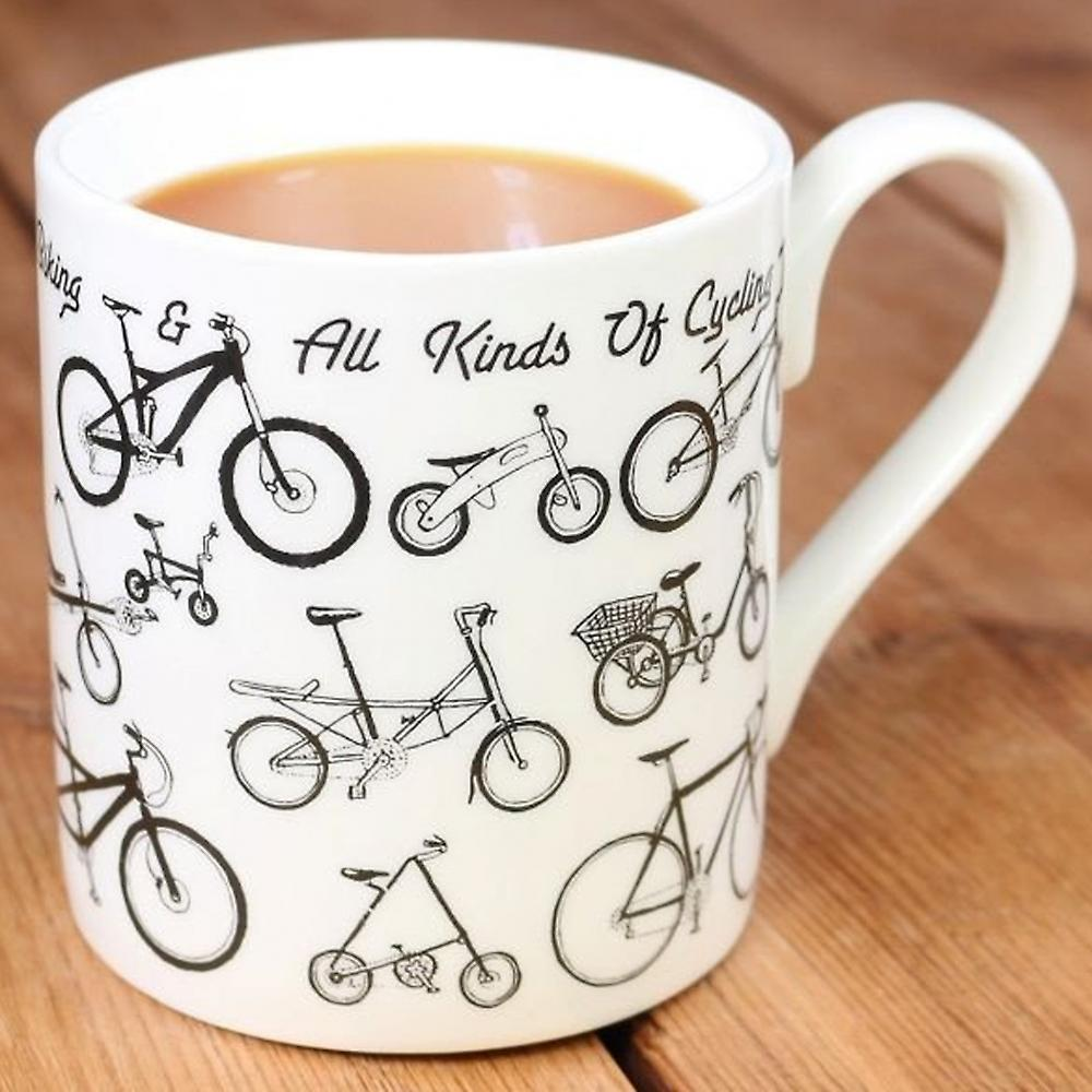 Flamingo Gifts Bicycle Picture Maps Mug
