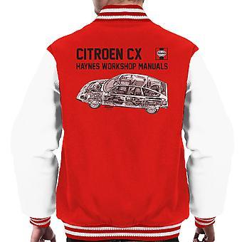 Haynes Workshop Manual 0528 Citroen CX Black Men's Varsity Jacket