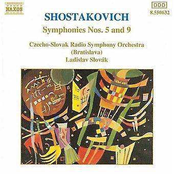 D. Shostakovich - Shostakovich: Symphonies Nos. 5 & 9 [CD] USA import