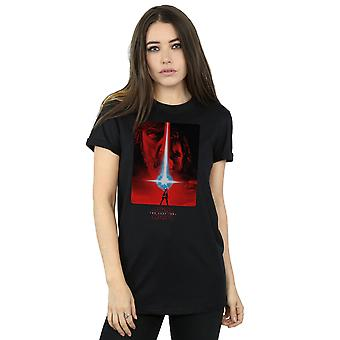 Star Wars Women's The Last Jedi Red Poster Boyfriend Fit T-Shirt