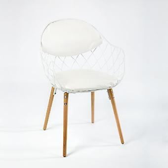 Wellindal CHAIR WOOD/METAL WHITE