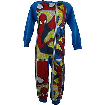 Boys Marvel Spiderman Fleece Sleepwalker / Sleepsuit