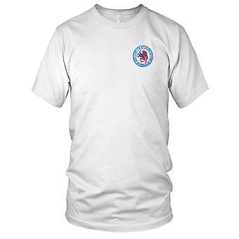 E.U. da Marinha USS DD-868 Brownson bordada Patch - Mens T-Shirt