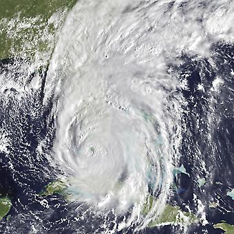 Irma di uragano passando sopra la stampa di Poster USA Florida Keys Stocktrek Images