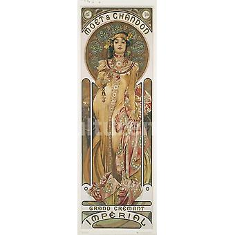 Mucha Moet e Chandon Poster Poster Print