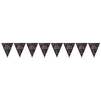 Amscan Sparkling Pink Happy Birthday Bunting (13 Feet)