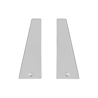 Sterling Silver 925 Womens Stud Geometric Designer Earrings with Shining Swarovski CZ Stone