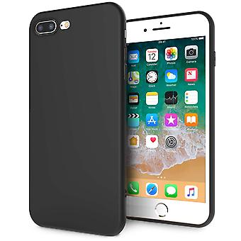 IPhone 8 Plus TPU silikongel - Solid svart matt