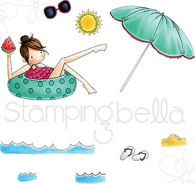 Stamping Bella Tiny Townie Cling Stamp Set-Frances Loves To Float EB521