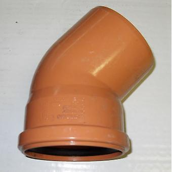 Soil Pipe 45 Degree Bend 110 mm Inlet - Push Fit - Brown - Underground - Waste