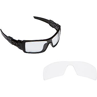 Oil Rig Replacement Lenses Crystal Clear by SEEK fits OAKLEY Sunglasses