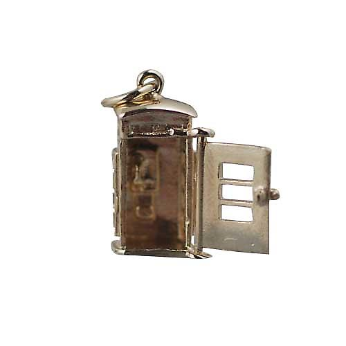 9ct Gold-18x8mm Öffnen phonebox Charm