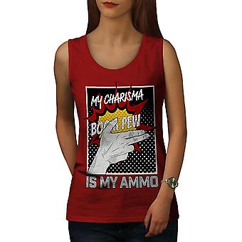 Charisma Comics Fashion Women RedTank Top | Wellcoda