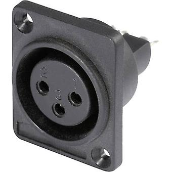 XLR connector Sleeve socket, straight pins Number of pins: 3 Black Hicon HI-X3DF-P 1 pc(s)