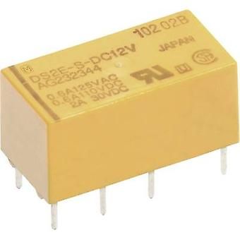 PCB relays 24 Vdc 2 A 2 change-overs Panasonic DS2