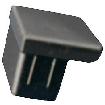 Richco CP-RJ45 Cover Cap Black (L x W x H) 10.5 x 12.5 x 8.5 mm