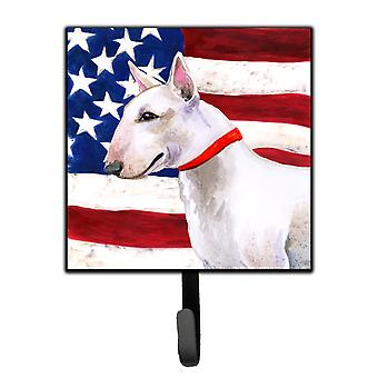 Carolines Treasures  BB9693SH4 Bull Terrier Patriotic Leash or Key Holder