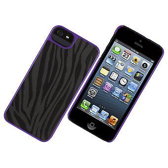 Griffin Moxy Zebra Print Hard Shell Case for Apple iPhone 5 - sort/lilla
