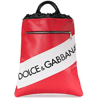 Dolce E Gabbana men BM1459AN423HRI67 red cotton backpack