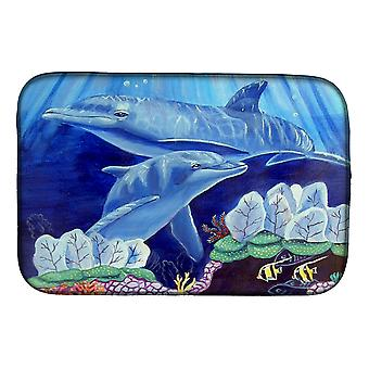 Carolines Treasures  7080DDM Dolphin under the sea Dish Drying Mat