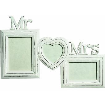 Large Mr & Mrs Wood Photo Frame