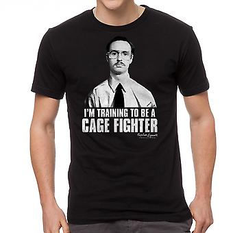 Napoleon Dynamite Cage Fighter Men's Black Funny T-shirt