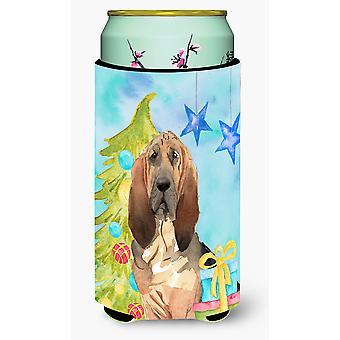 Christmas Tree Bloodhound Tall Boy Beverage Insulator Hugger