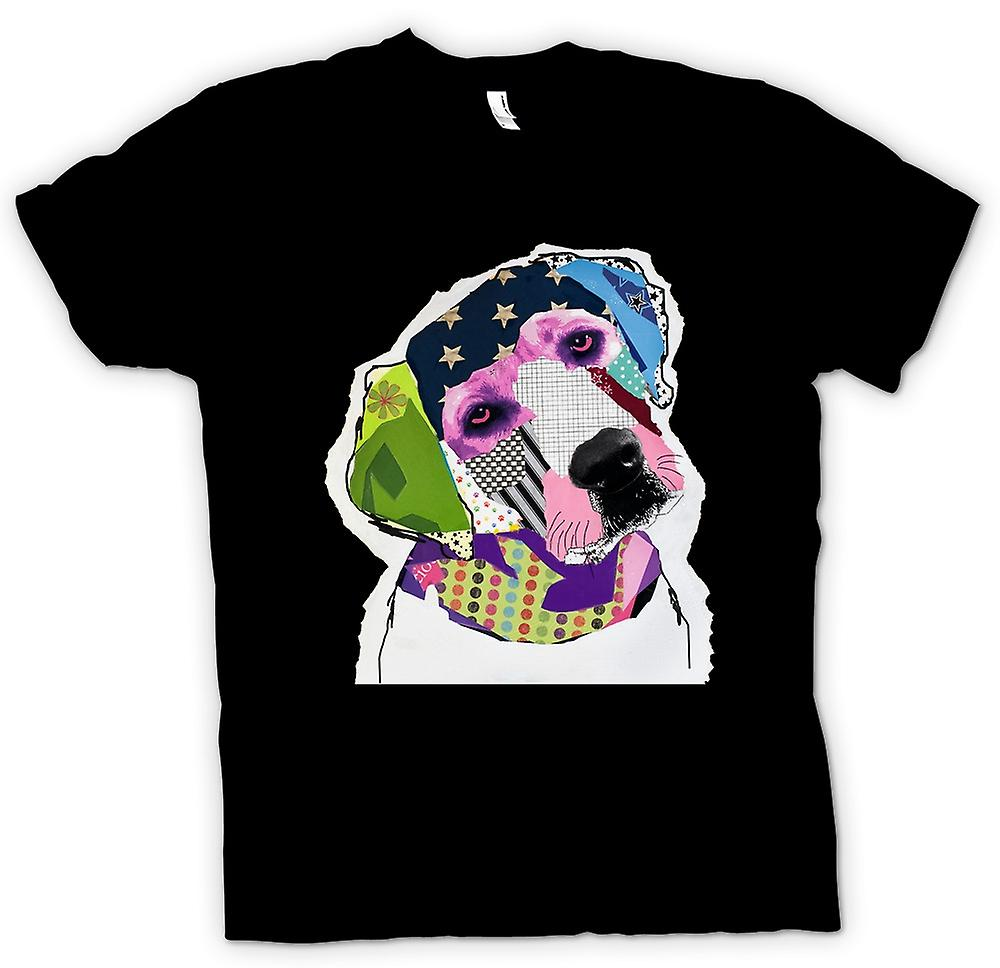 Mens T-shirt - Labrador - Cool - Pop Art - Cut Out
