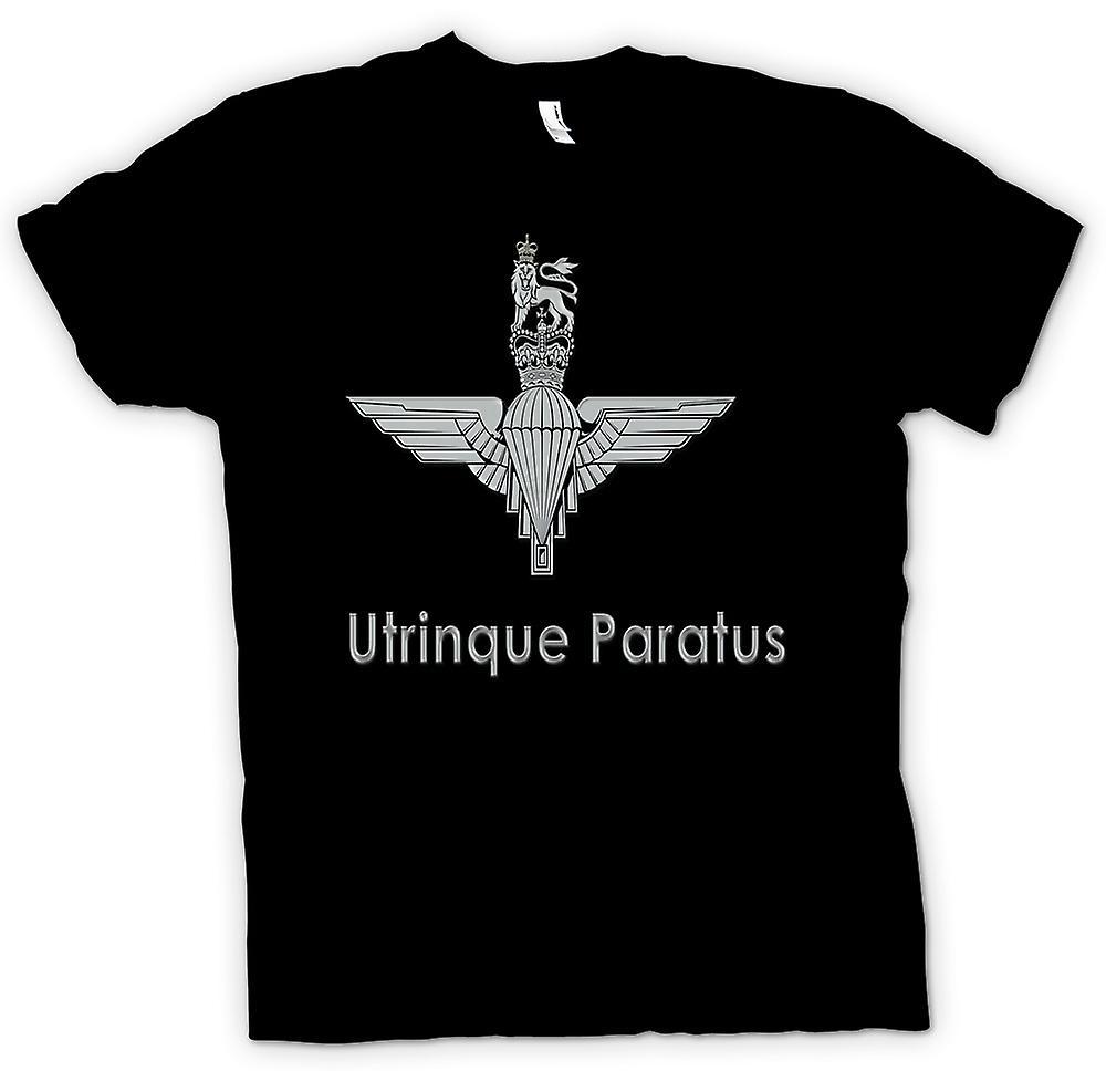 Heren T-shirt - Parachute Regiment - Utrinque Paratus