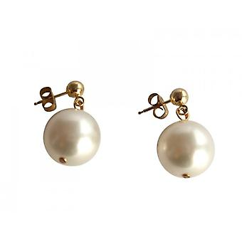 Noble Beijing white gold plated Pearl Earrings Pearl Stud Earrings