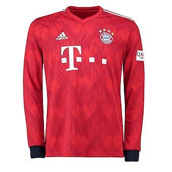 2018-2019 Bayern München Adidas Home Shirt met lange mouwen