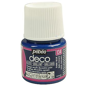 Pebeo Deco Water-Based Glossy Colours 45ml (134 Dark Blue)