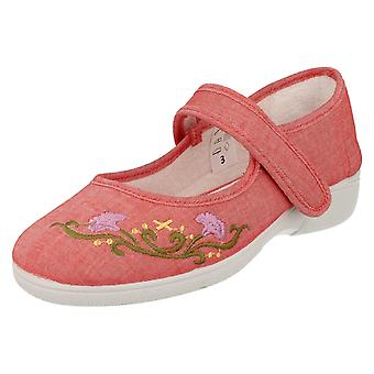 Ladies Easy B Casual Canvas Shoes Sofia - Red Canvas - UK Size 3 EE/4E - EU Size 35 - US Size 5