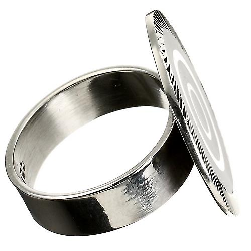 Black Beauty Enamel Silver Ring