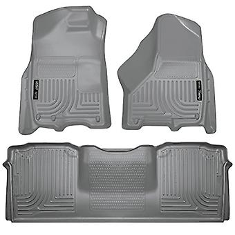 Husky Liners Front & 2nd Seat Floor Liners Fits 10-18 Ram 2500/3500 Mega Cab