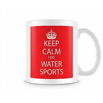 Keep Calm io acqua sport tazza stampata