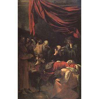 The Death of the Virgin, Caravaggio, 40x60cm with tray