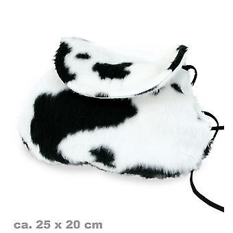 Vaca de peluche bolsa de peluche accesorios bolso
