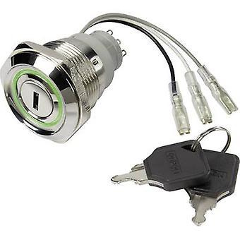 Key switch 250 V AC 5 A 1 x Off/On TRU COMPONENTS