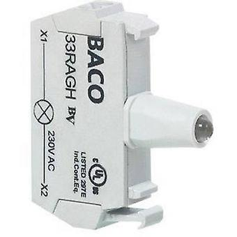 LED Yellow 12 Vdc, 24 Vdc BACO