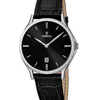 FESTINA - men's watch - F16745/5 - leather strap classic - classic