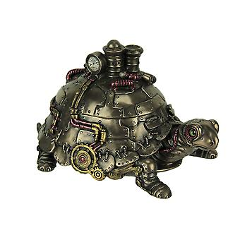 Amazingly Detailed Steampunk Tortoise Trinket Box