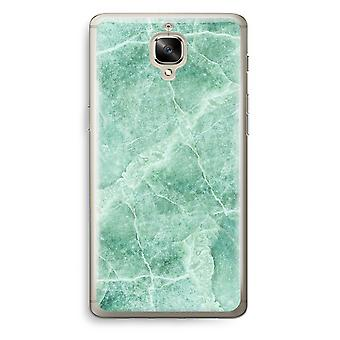 OnePlus 3 Transparent Case (Soft) - Green marble