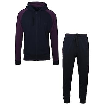 Hugo Boss Hugo Boss Navy & Purple Zip Tracksuit