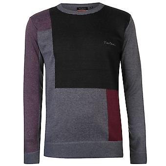 Pierre Cardin męskie bloku drutach sweter sweter sweter długi rękaw szyi ciepły