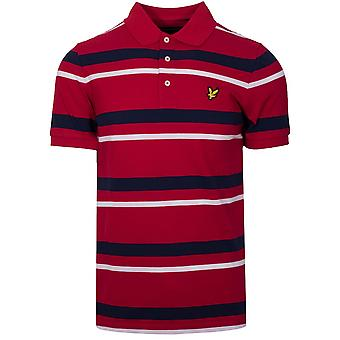 Lyle & Scott  Lyle & Scott Red Striped Polo Shirt