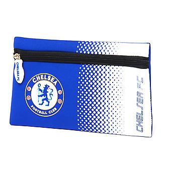Chelsea FC Official Fade Flat Football Crest Pencil Case