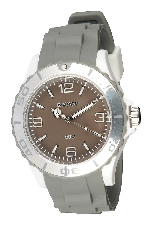 Waooh - Watch MC42 Tricolore white & taupe