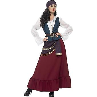 Deluxe Pirate Buccaneer Beauty Costume, Large