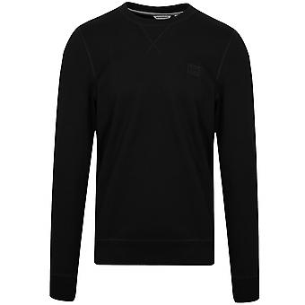 Antony Morato Antony Morato Black Plaque Logo Crew Neck Sweatshirt